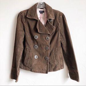 American Eagle Dark Brown Pea Coat